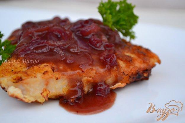 Рецепт Индюшачий шницель с брусничным соусом