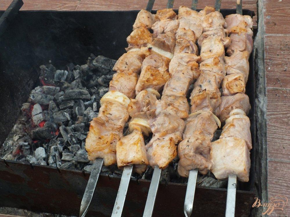 Фото приготовление рецепта: Шашлык из свинины с анисом шаг №8
