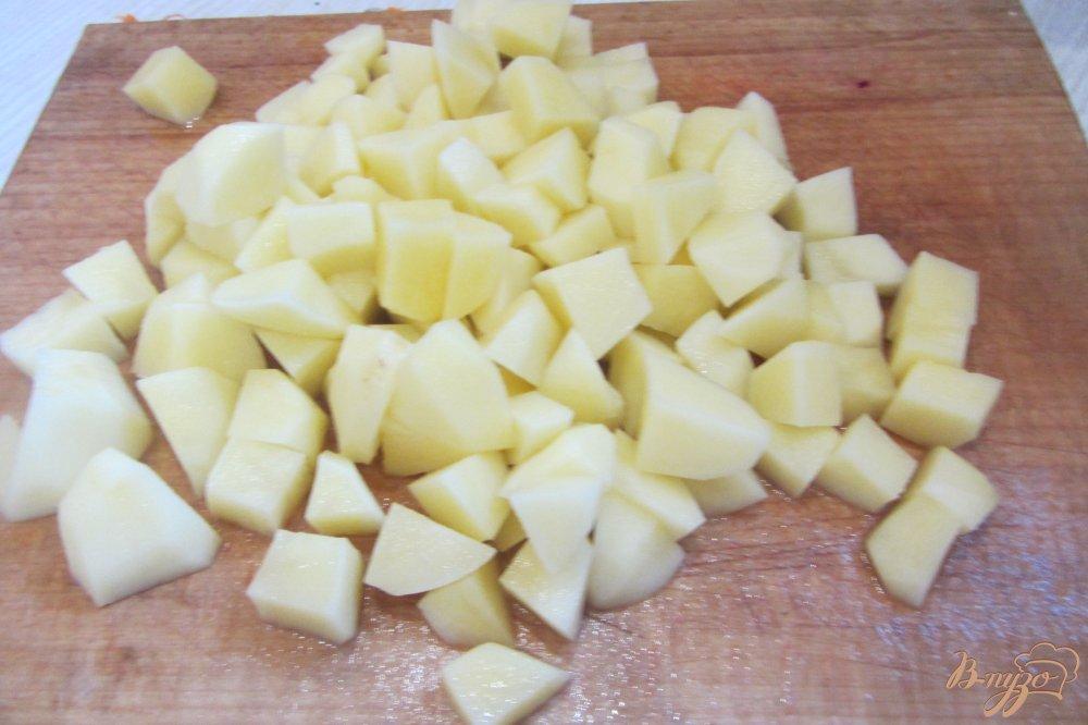 Фото приготовление рецепта: Борщ по-полтавски с грибами и яблоками шаг №8