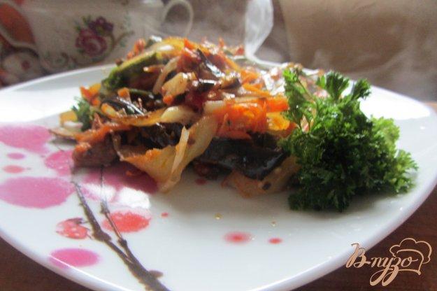 Рецепт Спаржевая фасоль тушенная с овощами и орегано