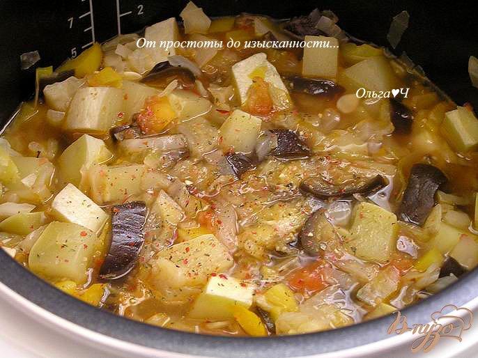 Фото приготовление рецепта: Овощное рагу (в мультиварке) шаг №6