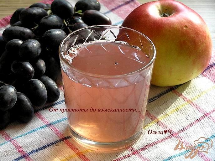 Фото приготовление рецепта: Кисель из яблок, абрикосов и винограда с желфиксом шаг №5