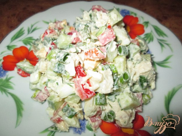 Рецепт Салат с курицей и болгарским перцем