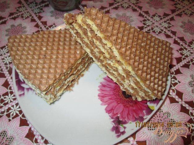 Рецепт Вафельный тортик