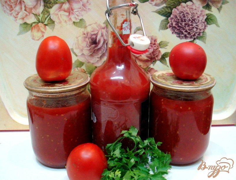 Фото приготовление рецепта: Томатный соус (заготовка на зиму) шаг №5