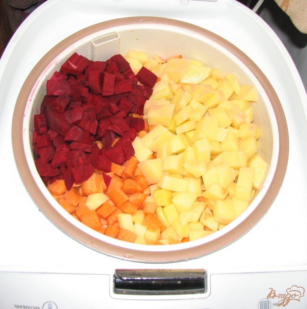 Фото приготовление рецепта: Быстрый винегрет в мультиварке. шаг №2