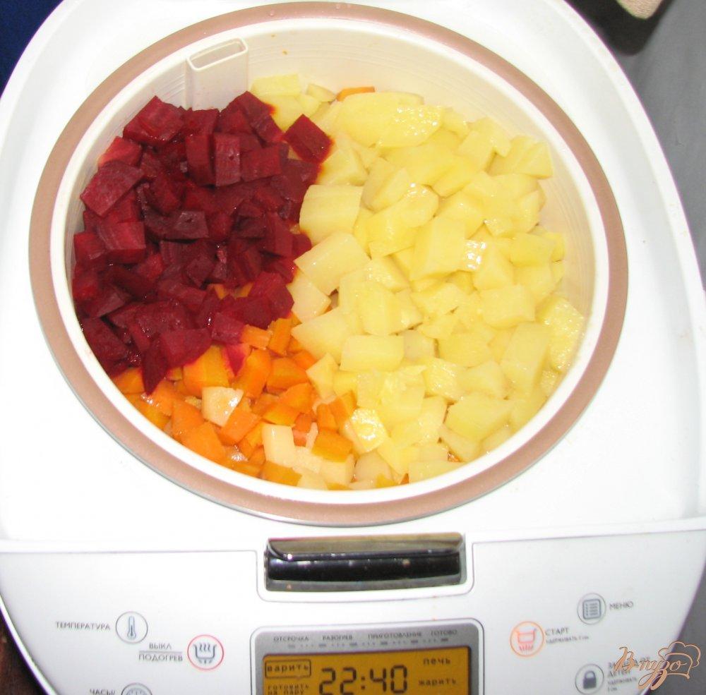 Фото приготовление рецепта: Быстрый винегрет в мультиварке. шаг №3