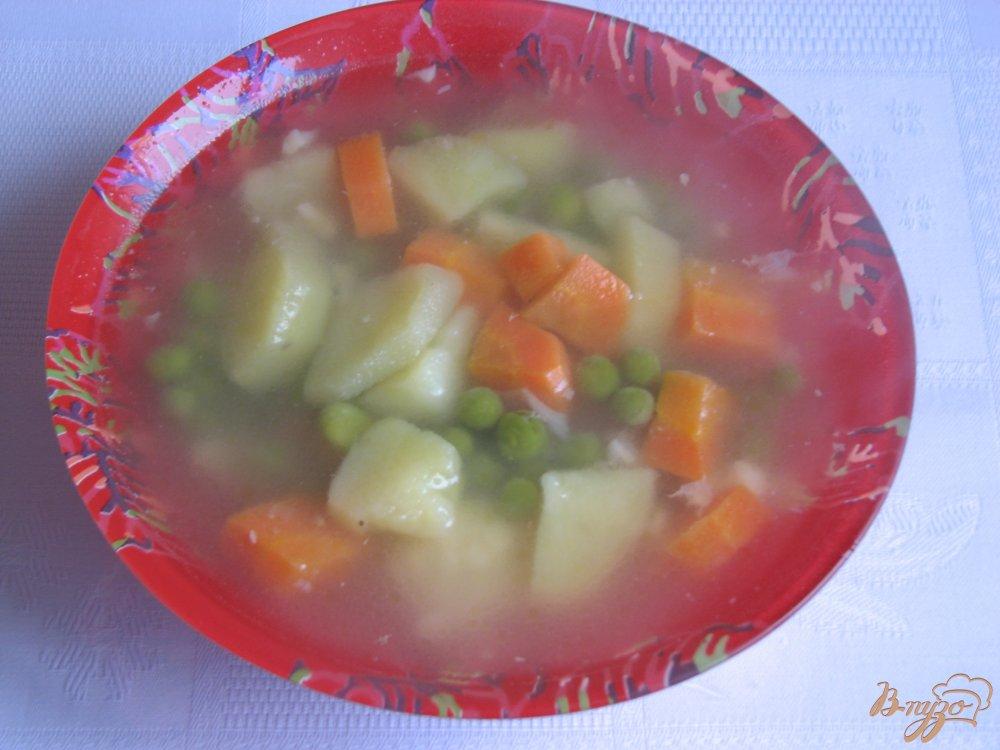 Фото приготовление рецепта: Суп с зеленым горошком шаг №4