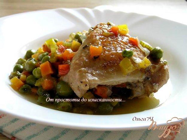 Рецепт Курица в соусе из зеленого горошка