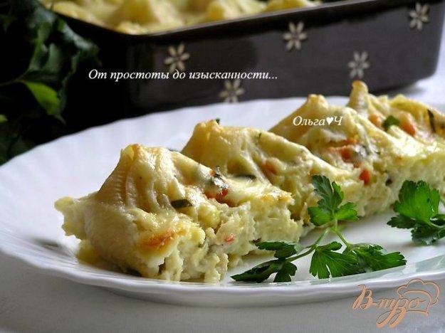 Рецепт Лумакони с творогом и овощами