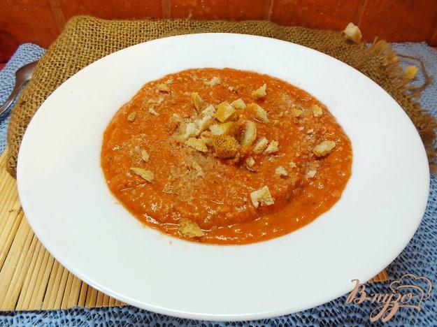 Рецепт Холодный помидорный суп с печеными овощами