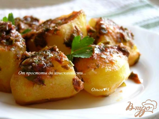Рецепт Картофель в томатном соусе с травами