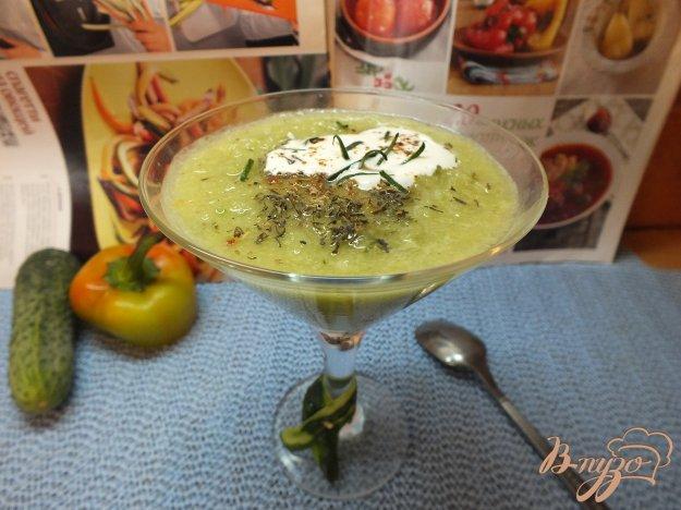 фото рецепта: Холодный огуречный суп пюре