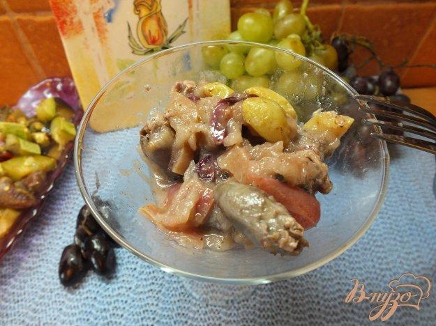 Рецепт Куриные сердца с фруктами