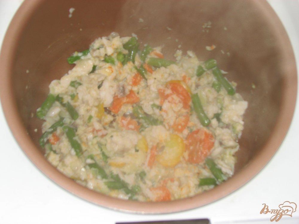 Фото приготовление рецепта: Тилапия с овощами шаг №5