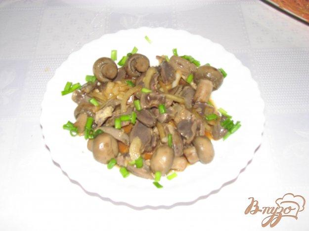 фото рецепта: Закуска из куриных сердец и желудочков