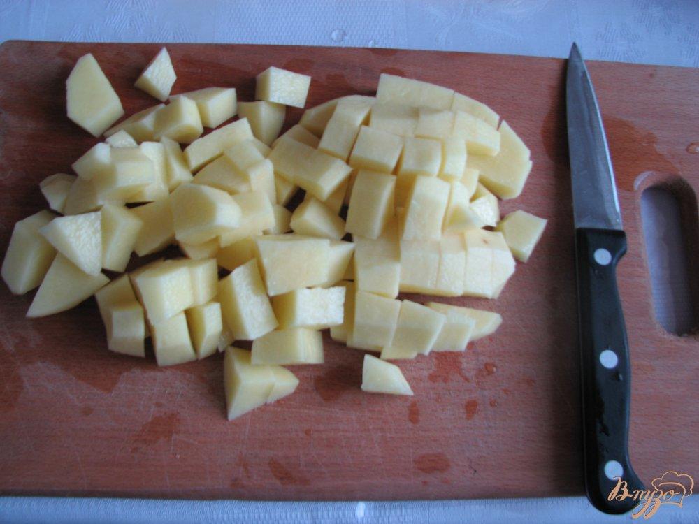 Фото приготовление рецепта: Овощи печеные Сковородка с грибами шаг №1