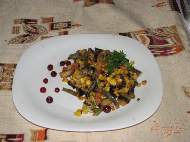 фото рецепта: Овощи печеные Сковородка с грибами
