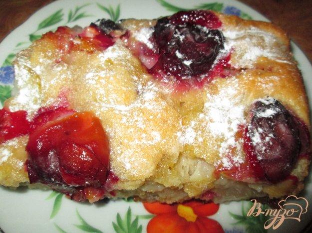 Рецепт Пирог с яблоками, грушами и сливами