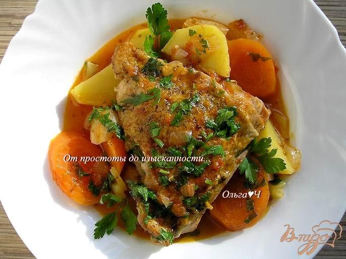Фото приготовление рецепта: Фрикасе из курицы по-креольски шаг №6