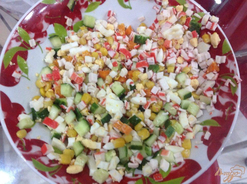 Салат крабовые палочки рецепт с фото