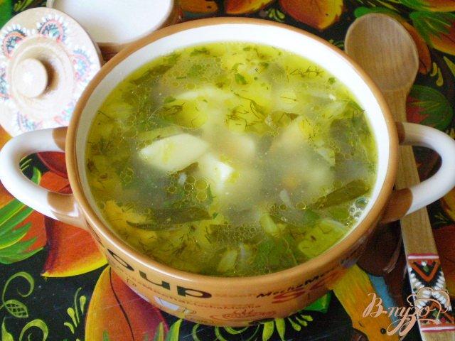 Фото приготовление рецепта: Зеленый борщ шаг №10