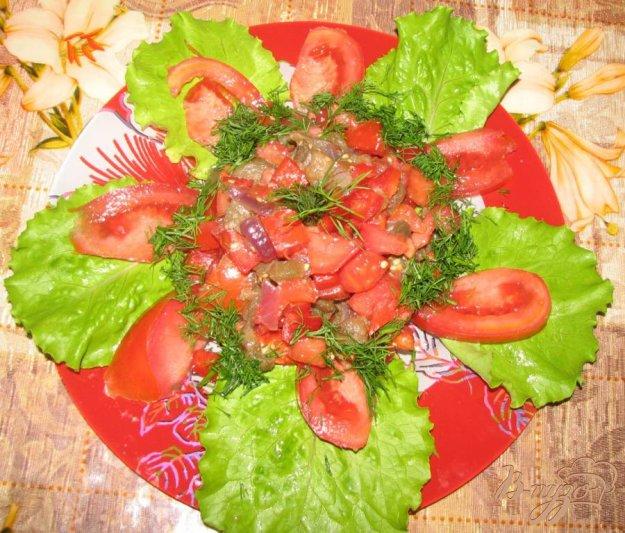 Салат з помідорів і печених баклажанів. Як приготувати з фото