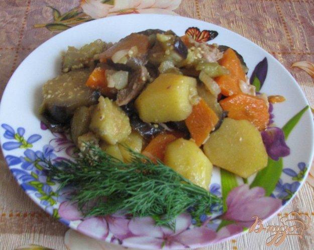 Рецепт Картофель с овощами, тушеный по-домашнему