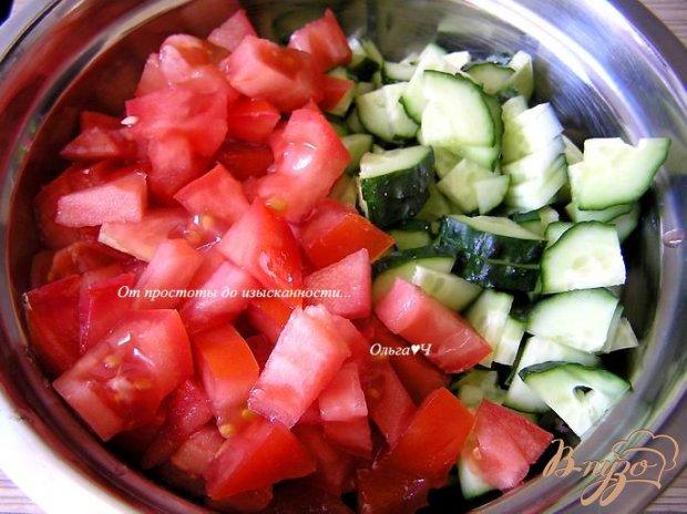 Салат из зеленой гречки с овощами и ореховой заправкой