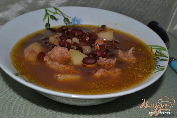 Фасолевый суп с клецками из цельнозерновой муки