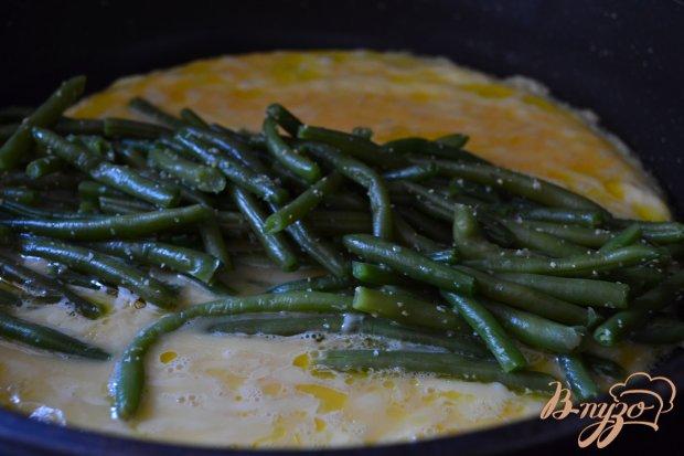 Омлет с сыром и фасолью