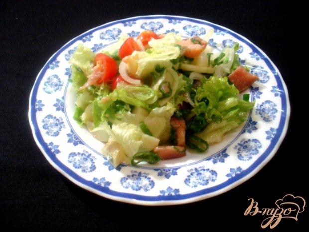 Салат из копчёной горбуши