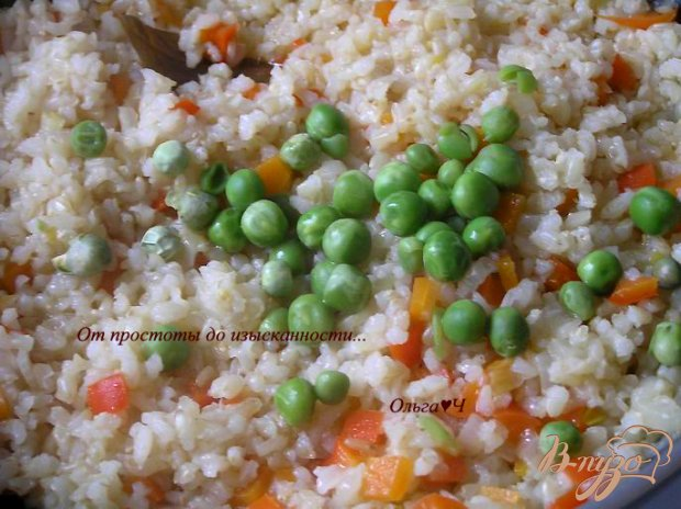 Плов из коричневого риса с овощами