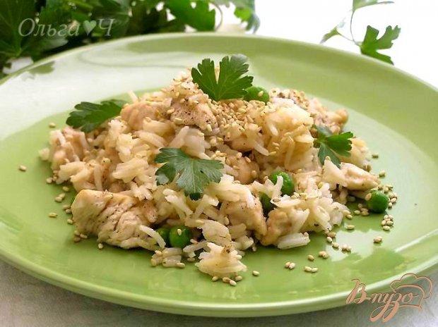 Рис с курицей по-азиатски