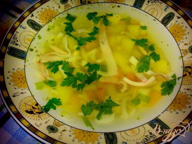 Суп с кальмаром