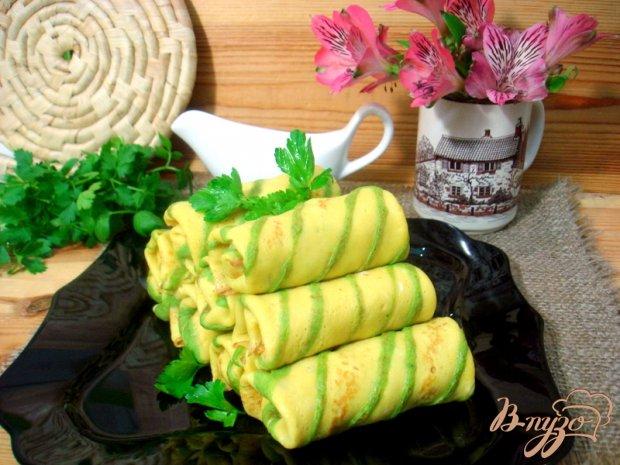 Блинчики полосатики с капустой