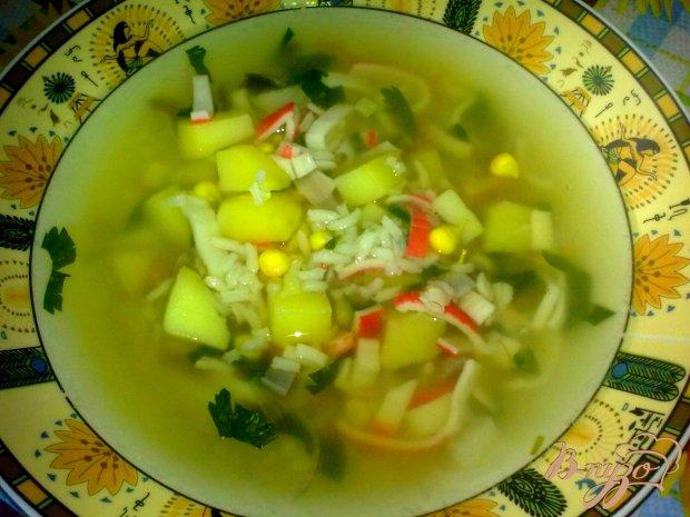 Суп с крабовыми палочками