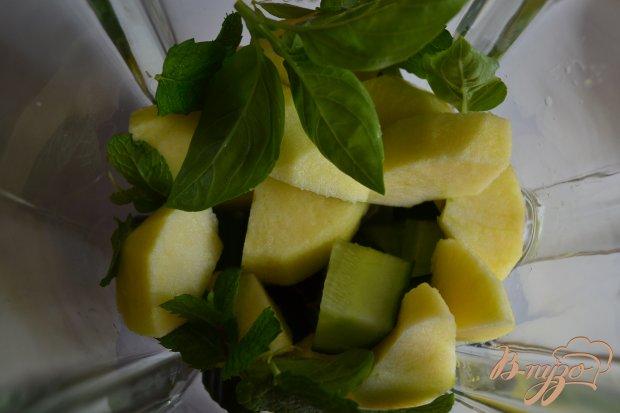 Огуречно-яблочный гаспачо с мятой