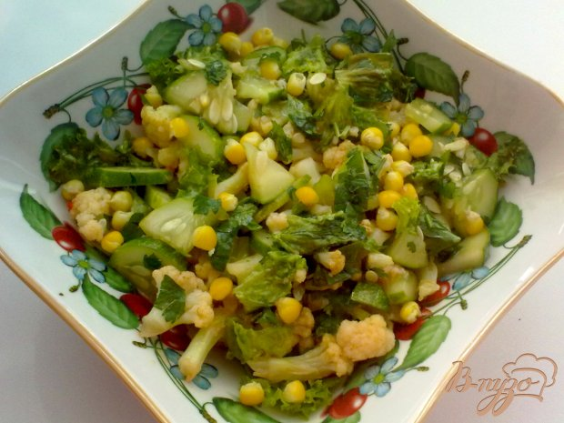 """Салат с цветной капустой """"Зеленый"""""""
