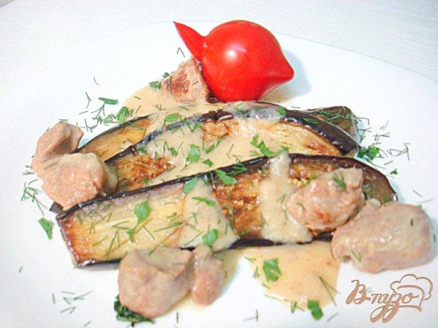 Баклажаны гарнирные с телятиной в соусе