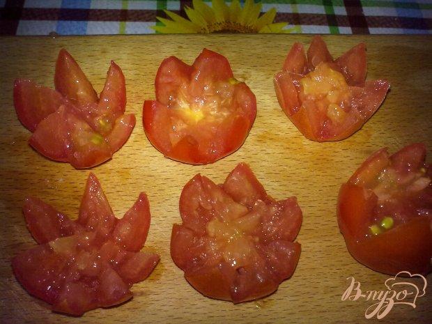 Тарталетки с мясными шариками