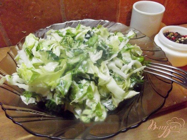 Зеленый салат с салатом латук