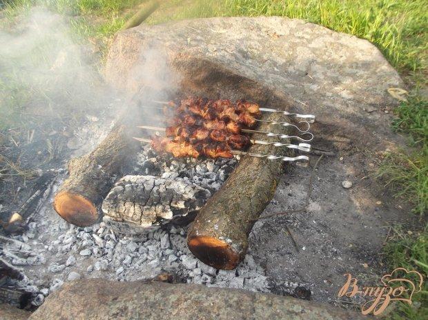 Шашлык из свиной лопатки вымоченный