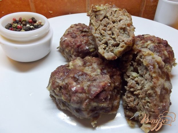 Печеные котлеты из говядины и баранины