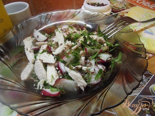 Салат куриный с теплой заправкой