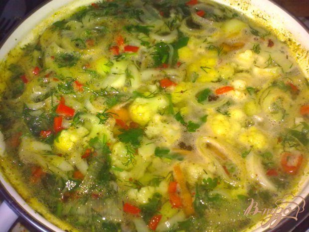 Суп с луком пореем