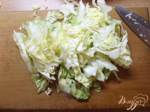 Капустный салат с кинзой