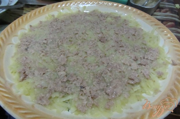 Салат с печенью трески под шубкой