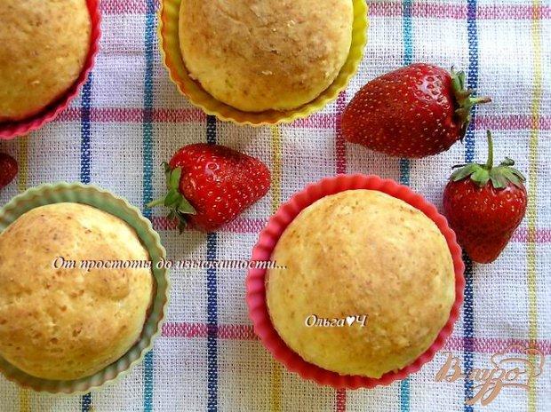 Творожные булочки с клубникой