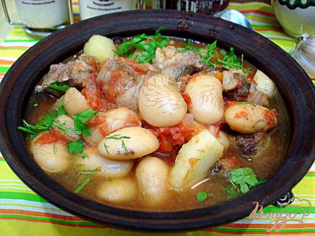 Свинина с фасолью и овощами